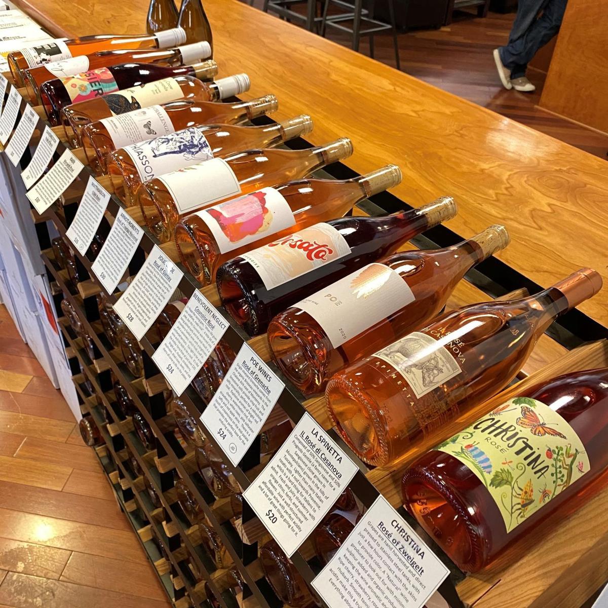 rose at backroom wines