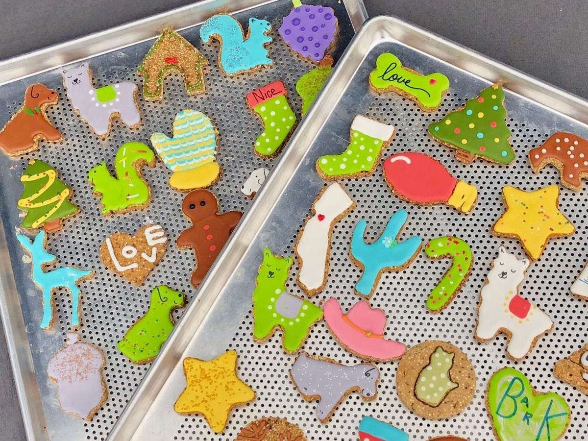 A selection of drool. dog cookies. The business is based in Napa.