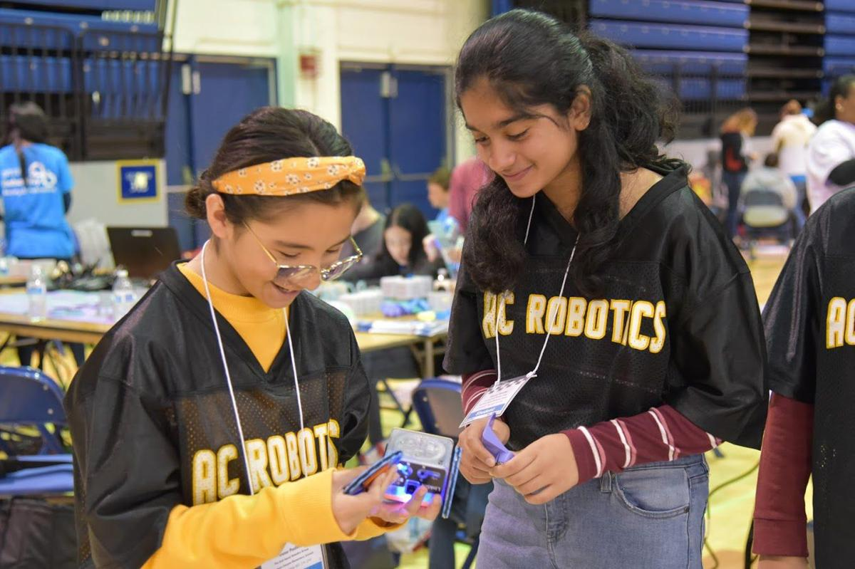 Robotics, girls at competition