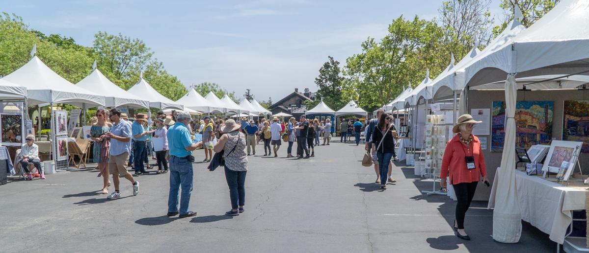 Yountville art, sip and stroll