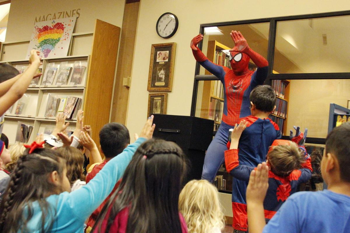 Spider-man slings into St. Helena