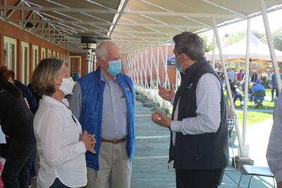 Rep. Mike Thompson at vaccine clinic