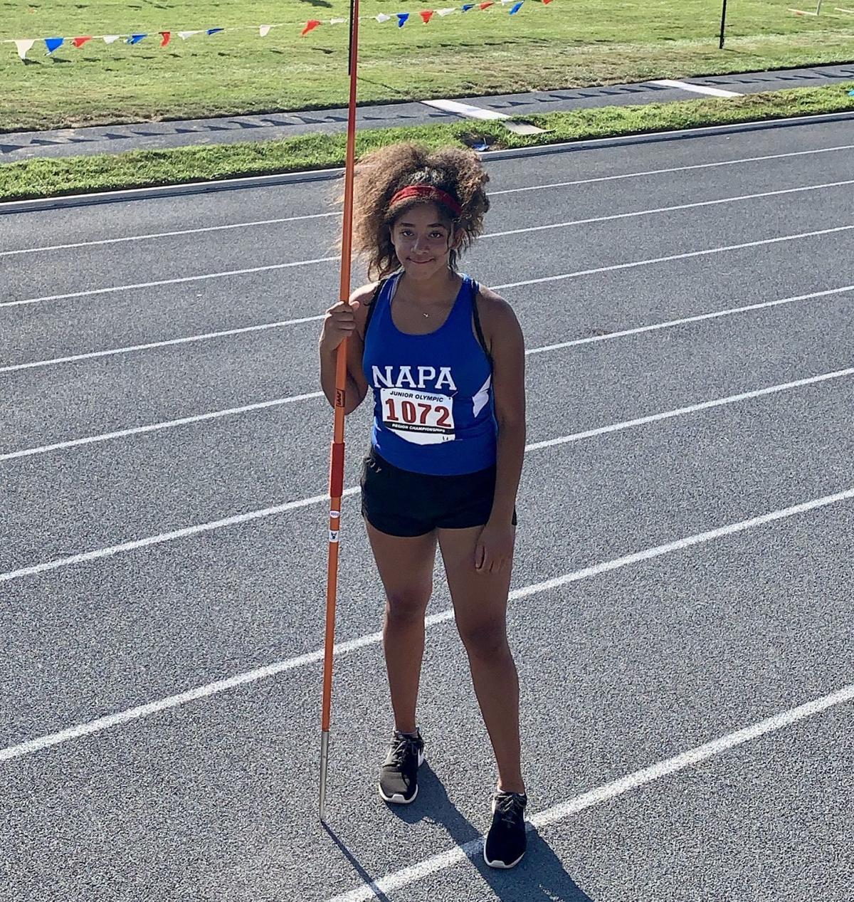 Napa Track Club's Sophia Tinnon