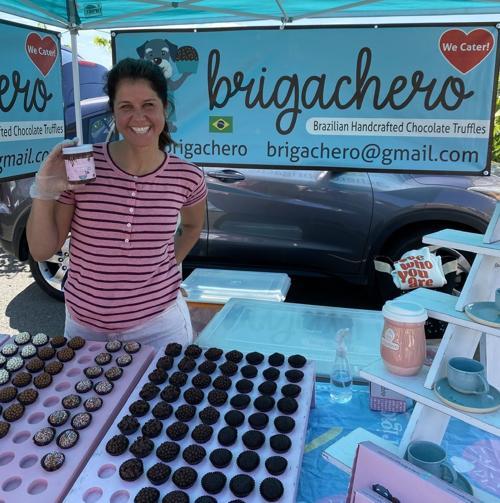 Fabi Heyes of Brigachero at the St. Helena Farmers' Market