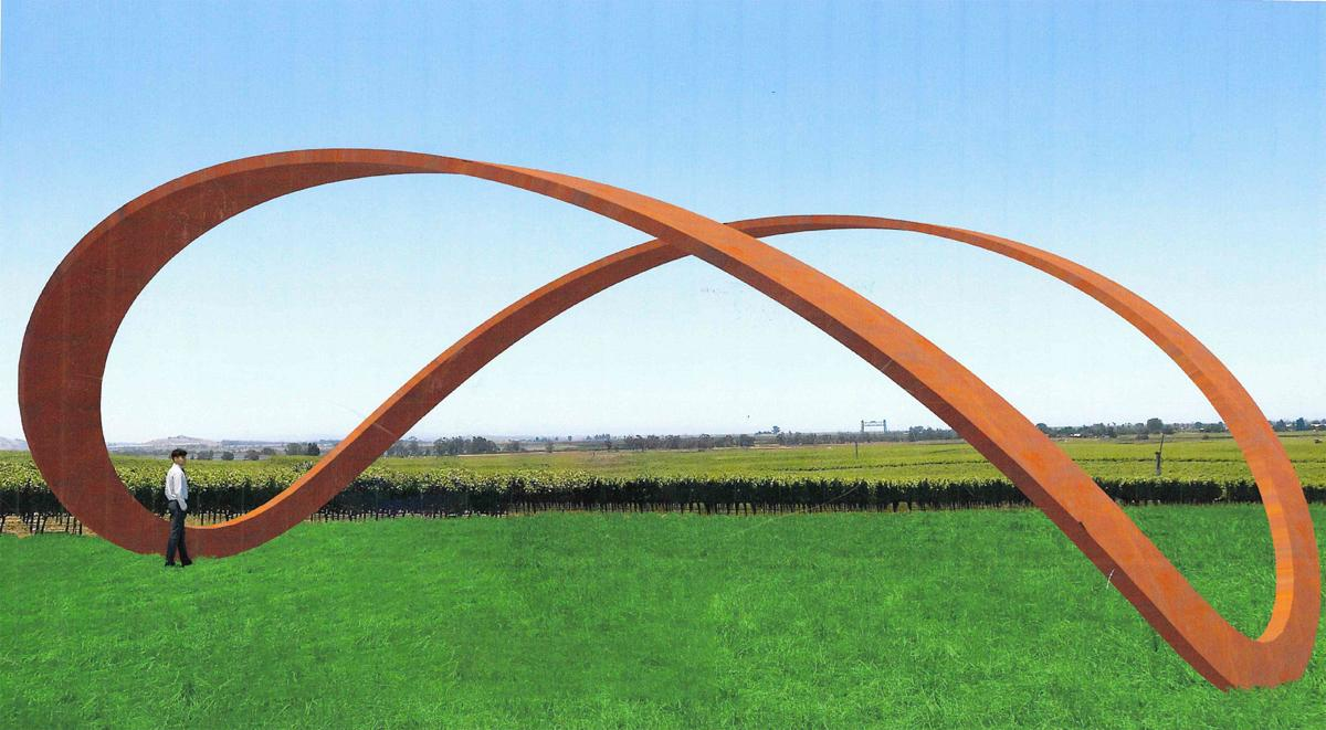 Infinity sculpture for the Stanly Ranch resort, Napa