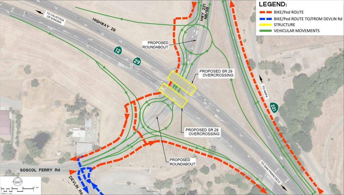 SR-29/SR-221 junction interchange - Alternative 2
