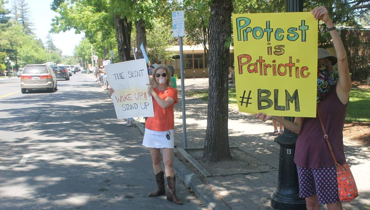 Monday protest at Lyman Park, St. Helena