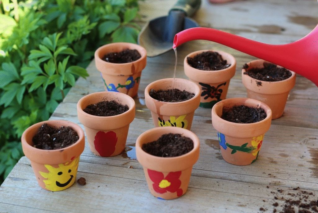 Family Fun Activity: Decorating pots for Spring