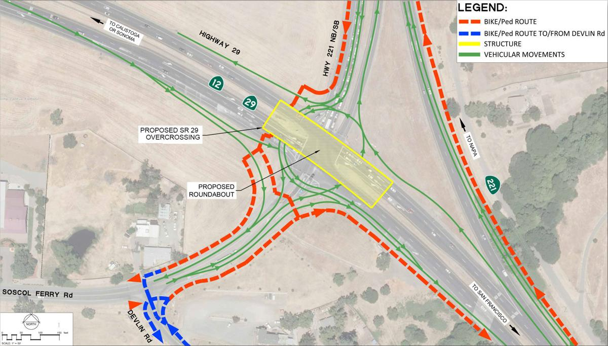 Caltran Traffic Map.Caltrans Wants Napa Feedback For Roundabout Design For Highway 29 At
