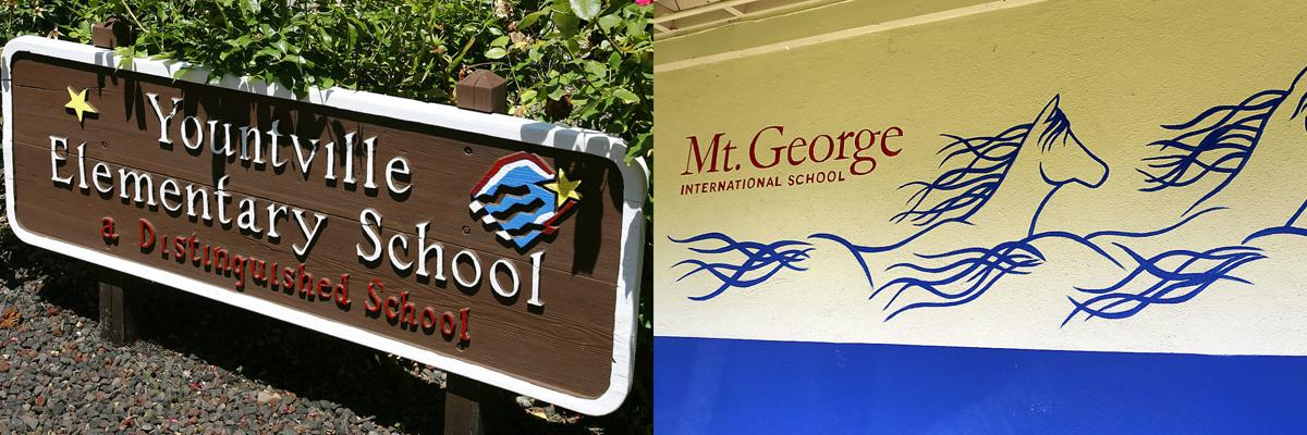 Yountville and Mt. George schools