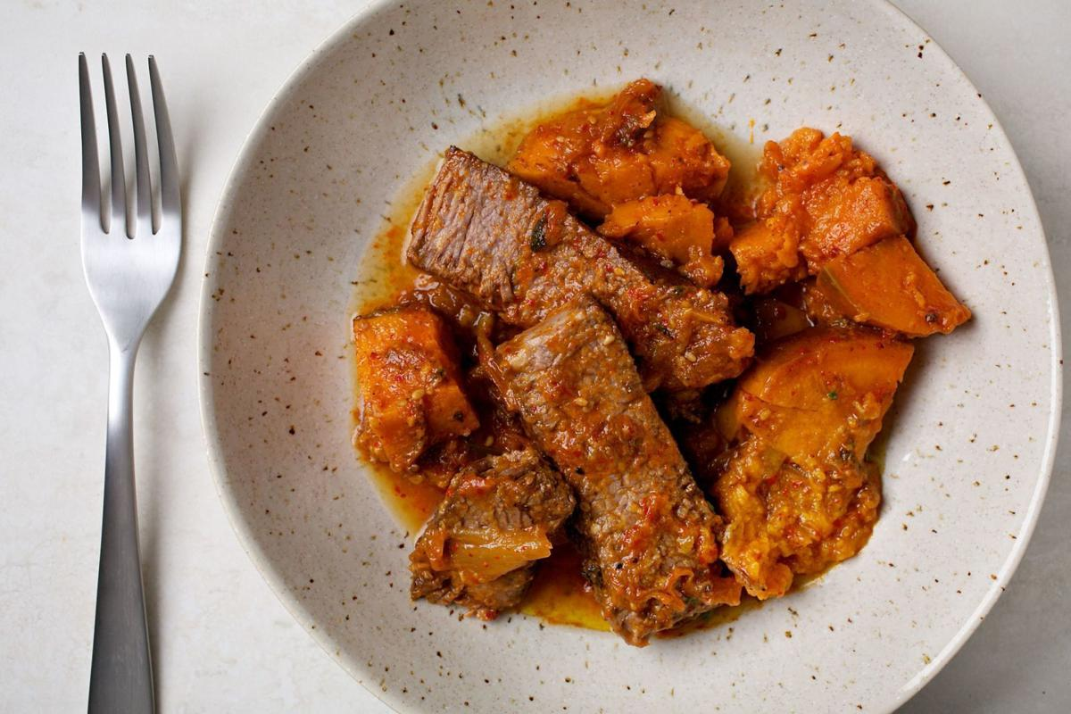 Pot Roast With Kimchi + Sweet Potatoes.
