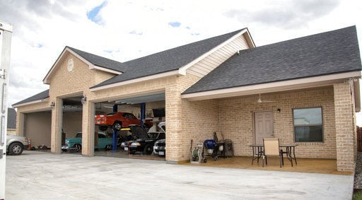 Car collection in South Texas part of man cave space