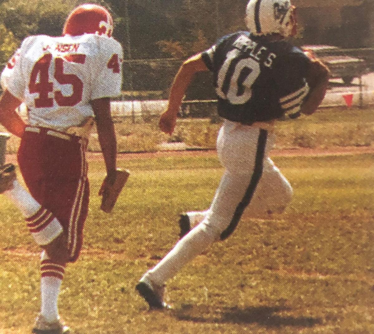 Steve Ripple of the 1983 Justin-Siena football team