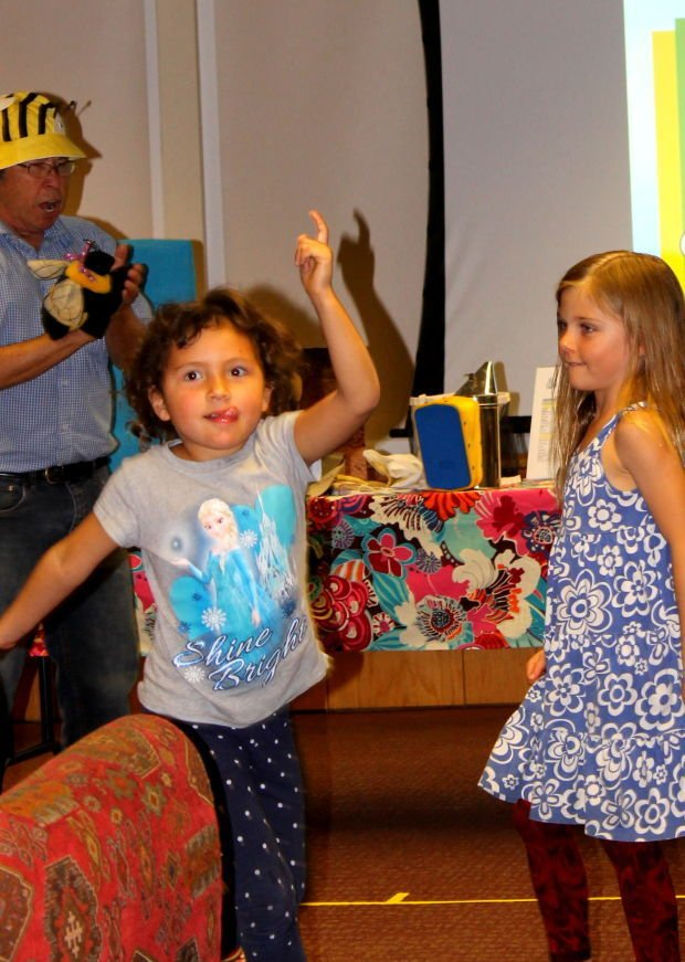 Bee dancing at the St. Helena Library