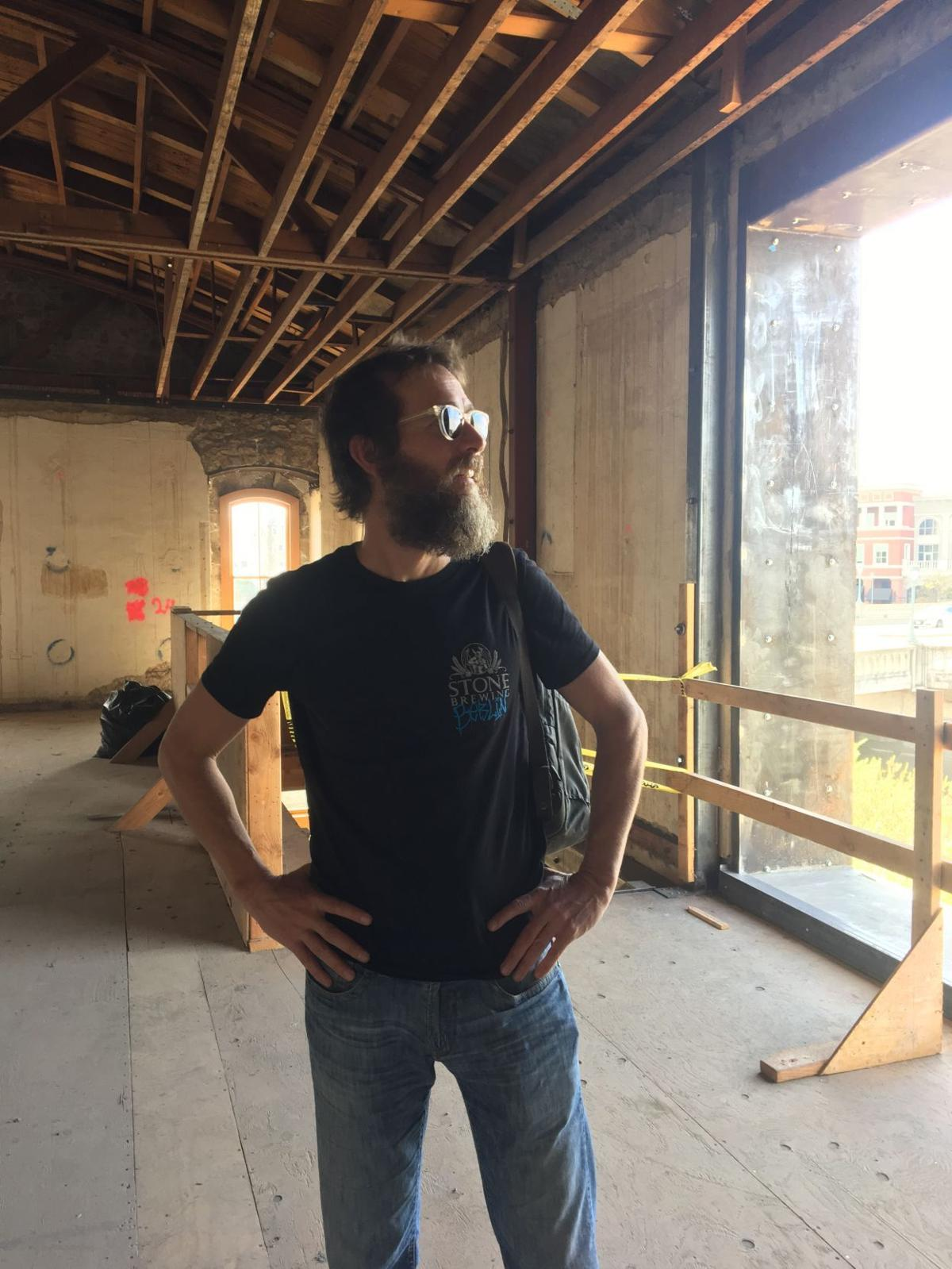 Stone Brewing co-founder Greg Koch at the Borreo Building