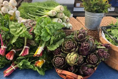Spring produce at Long Meadow Ranch