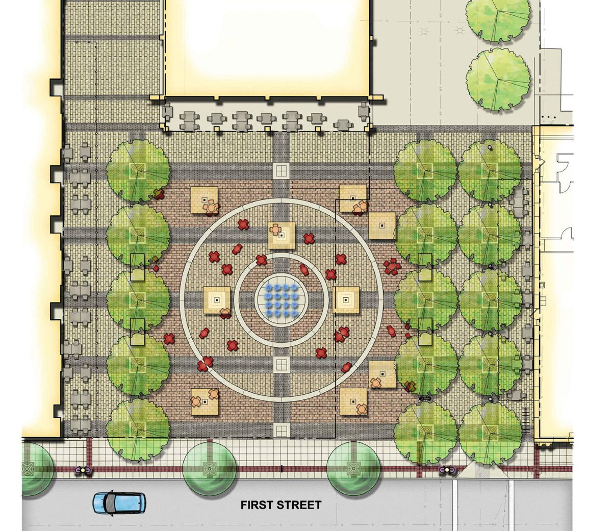 Dwight Murray Plaza renovation