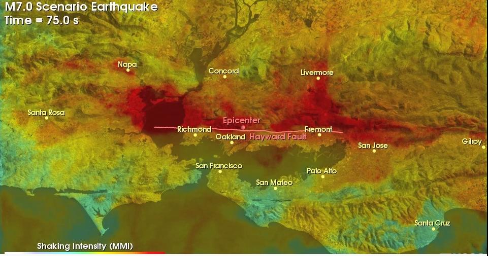 A big quake on the Hayward fault would give Napa a good shaking ...