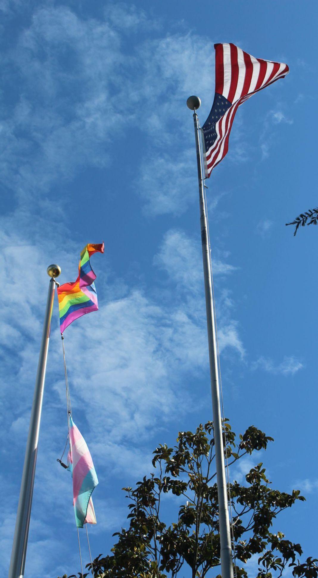 Pride Transgender Flags Fly Over St Helena City Hall Lifestyles Napavalleyregister Com