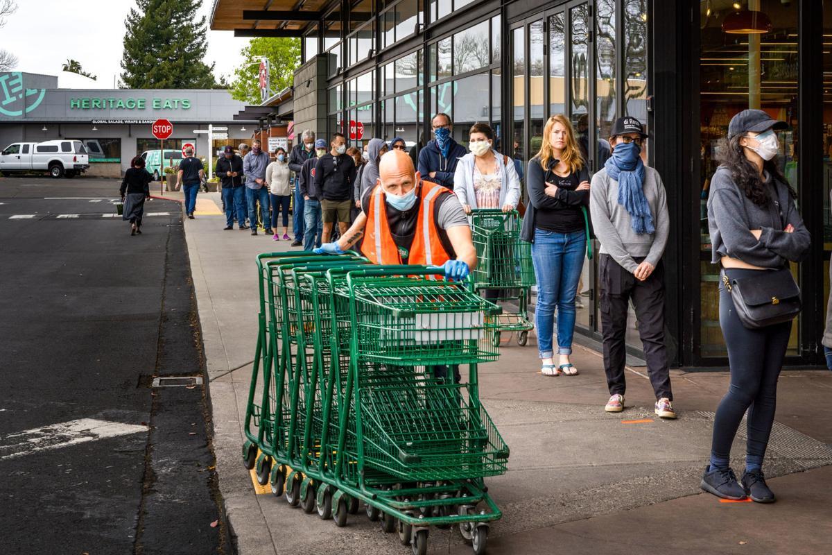 Whole Foods line, April 11