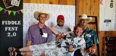 Kathy Joseph with her vineyard management team