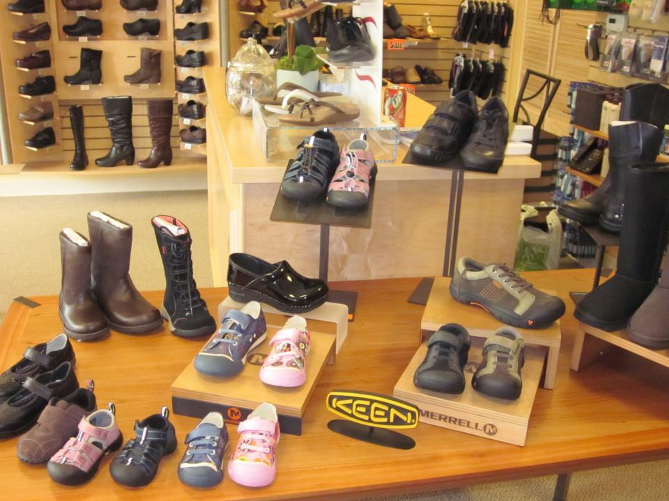 Keen Merrell Shoe Display