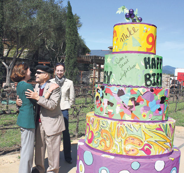 Trefethens Deliver Surprise Birthday Cake For Grgichs 90th