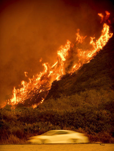 Bel-Air wildfire joins the siege across Southern California (copy)