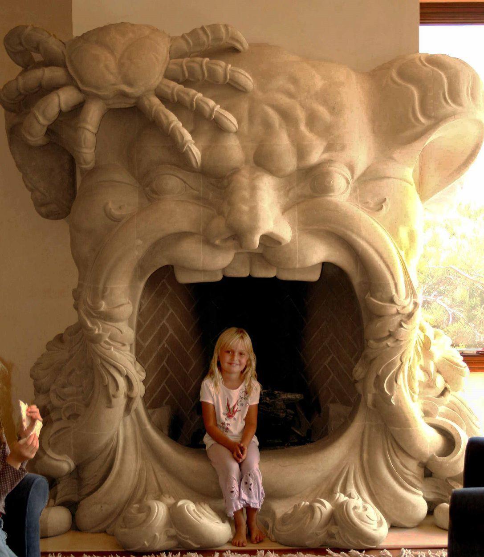 The Poseidon fireplace surround created by James Gray