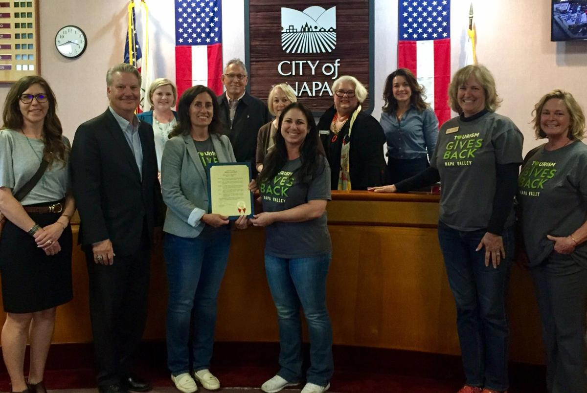 In recognition of National Travel and Tourism Week (May 5 - 11), proclamations were made by the mayors and city councils of American Canyon; Napa; Yountville; and Calistoga and presented to members of the tourism industry in attendance.