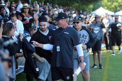 Oakland Raiders open training camp in Napa