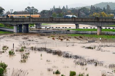 Oxbow Commons bypass floods in Napa