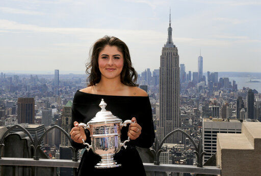 US Open champ Andreescu is WTA's No. 5; Medvedev 4th in ATP