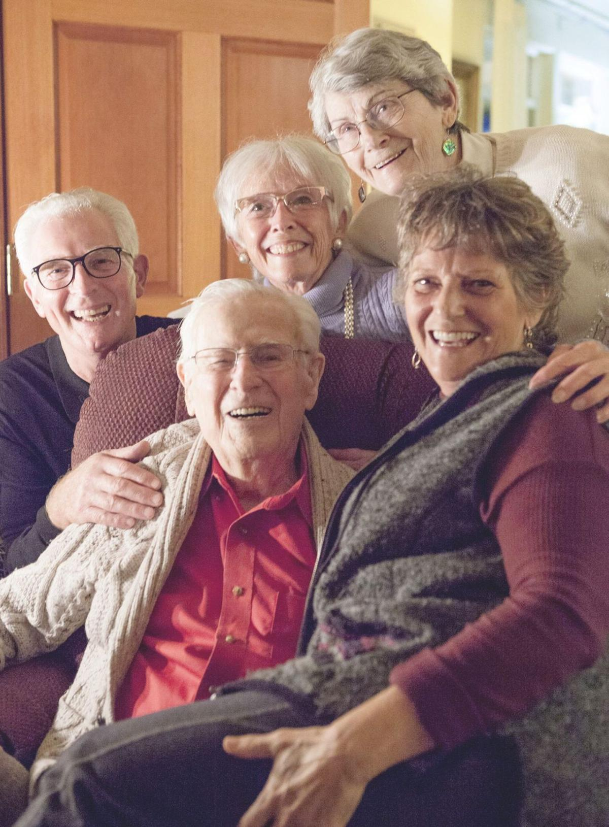 Chuck McKinnon with group of friends