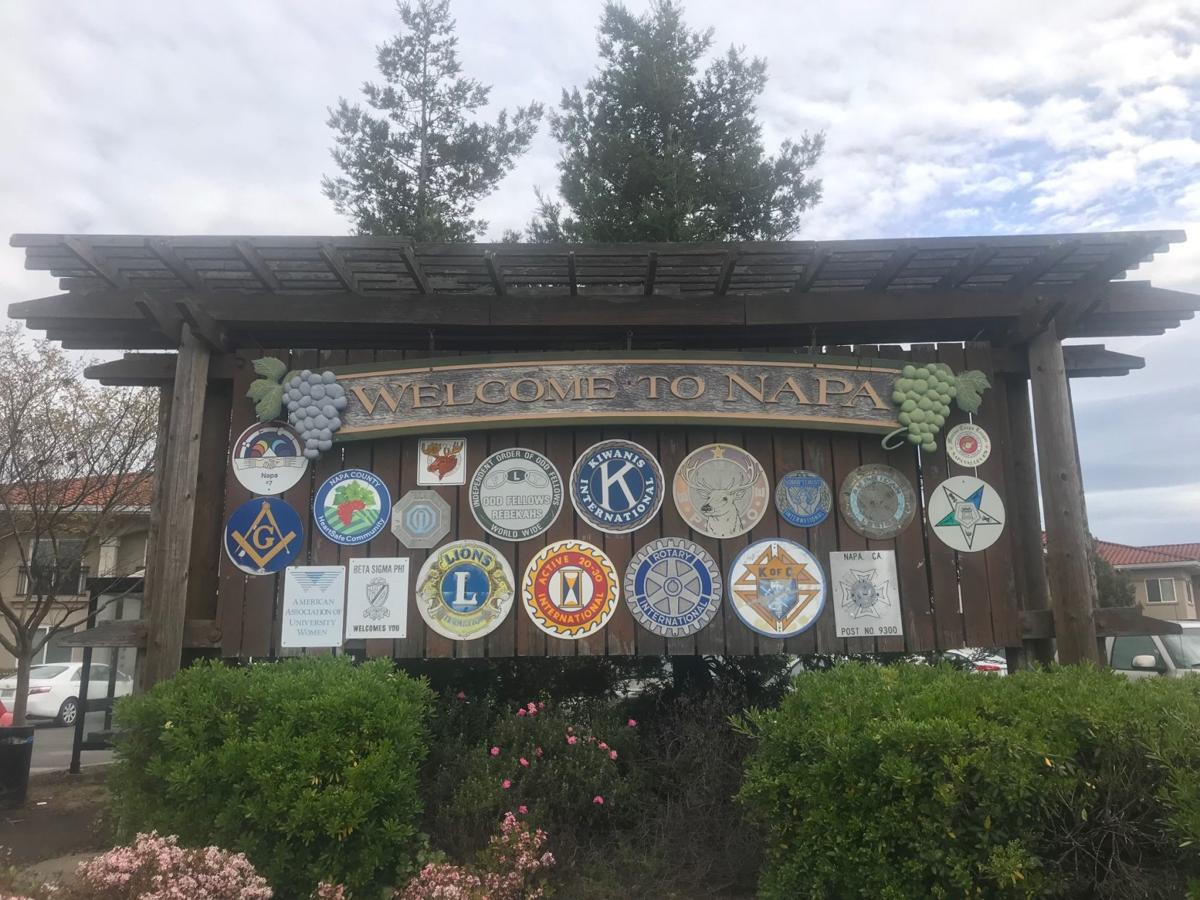 One of the city of Napa's welcome signs. A Leadership Napa Valley group plans to replace the signs with a new design.