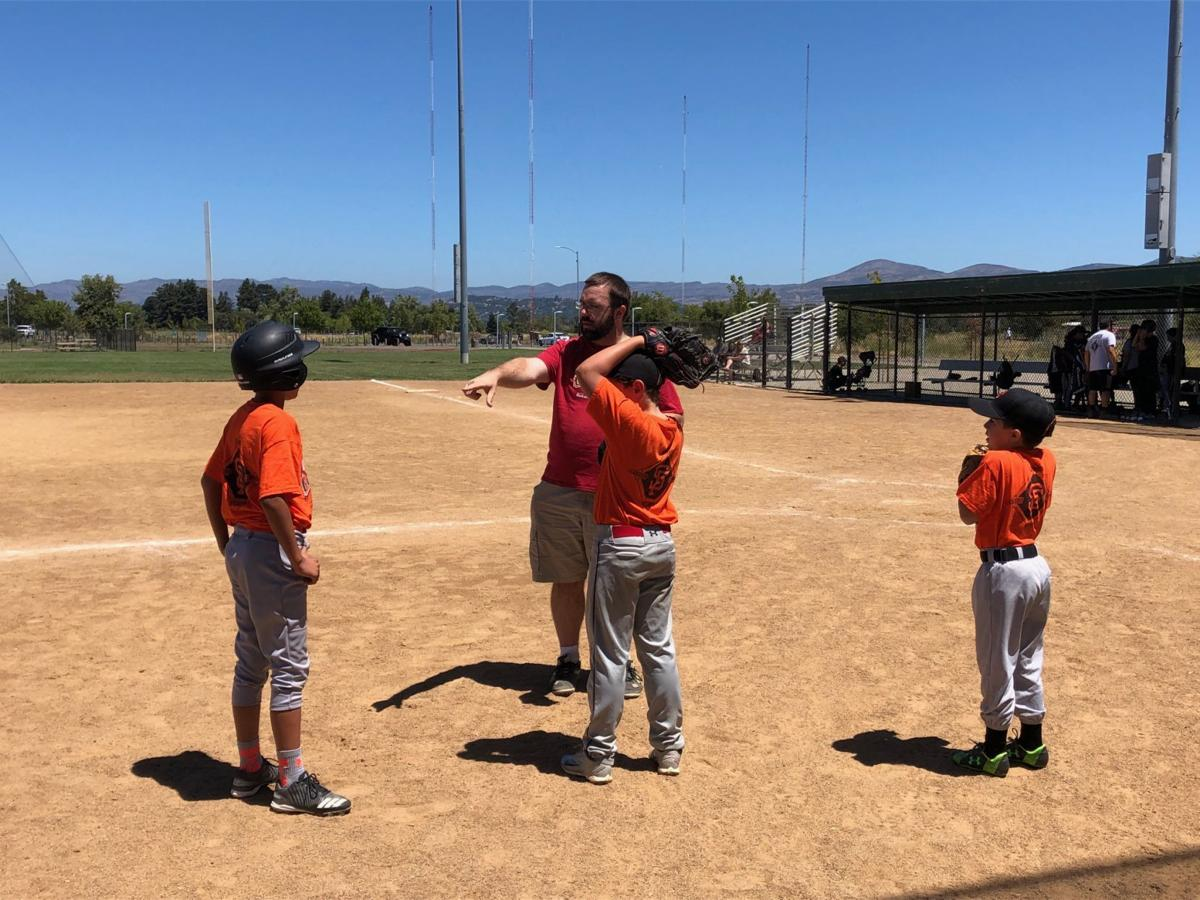 Napa Junior Giants play at Kennedy Park
