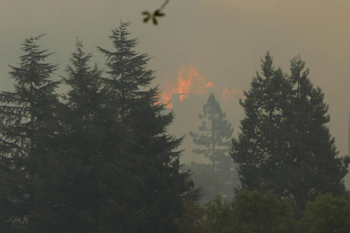 Atlas Peak fire