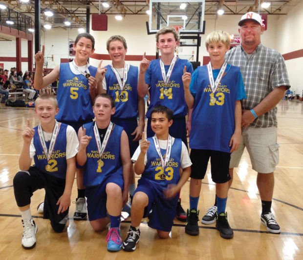 Youth Basketball Napa Valley Warriors Win Rocklin Tournament