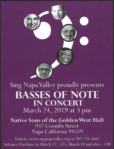 """Sing Napa Valley: """"Basses of Note"""""""