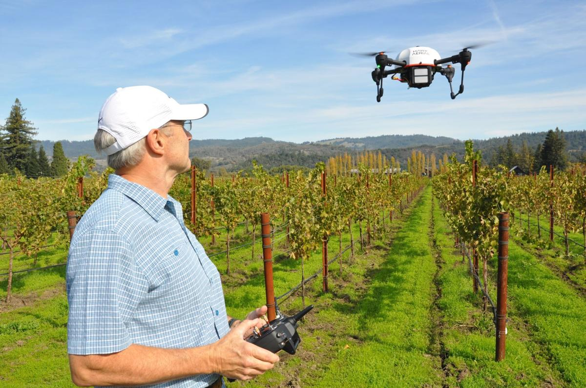 Drone imaging above Napa Valley