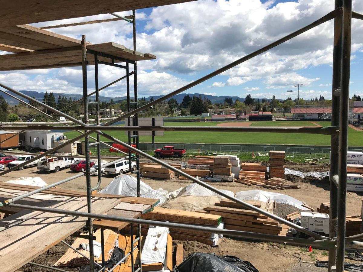 Construction at the new Watermark at Napa Valley senior living community on Solano Avenue.