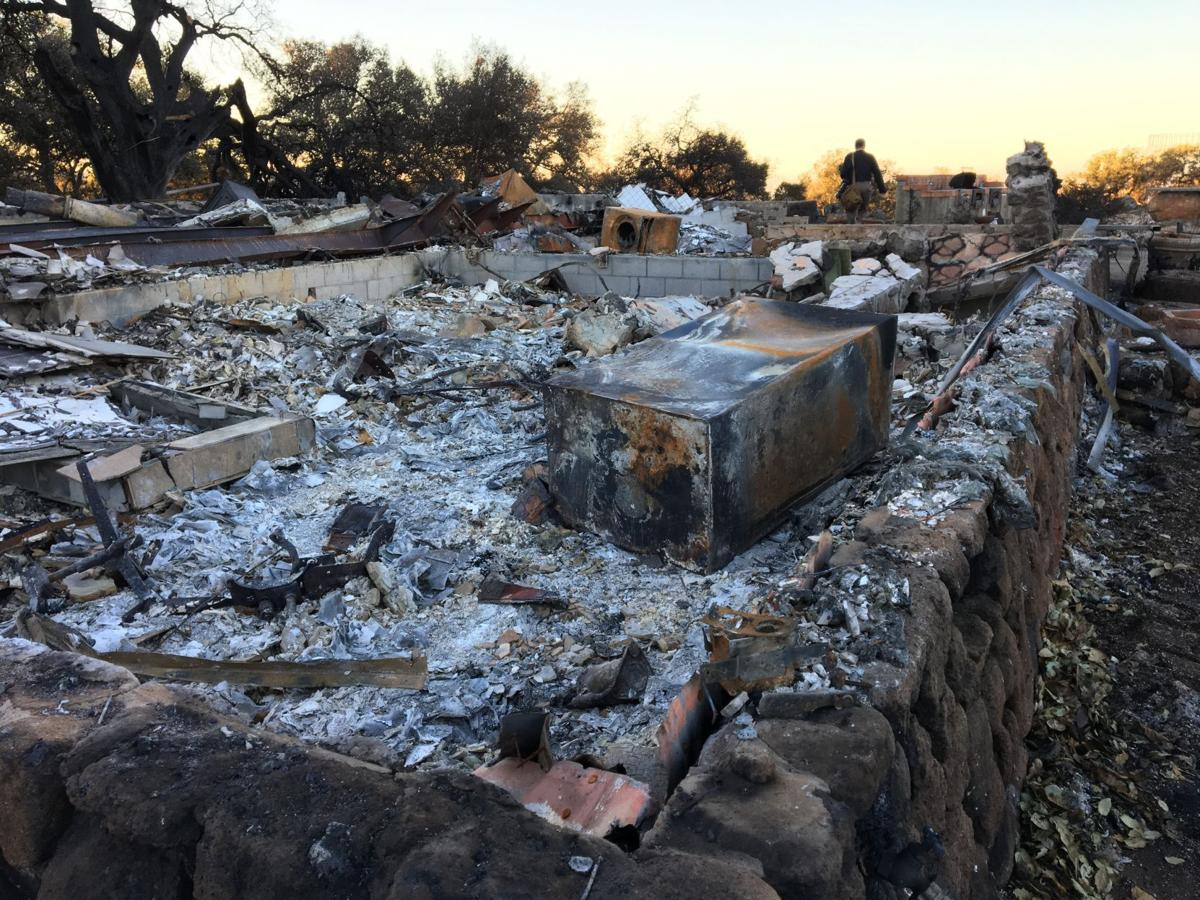 The Malan family home after the Atlas Fire.