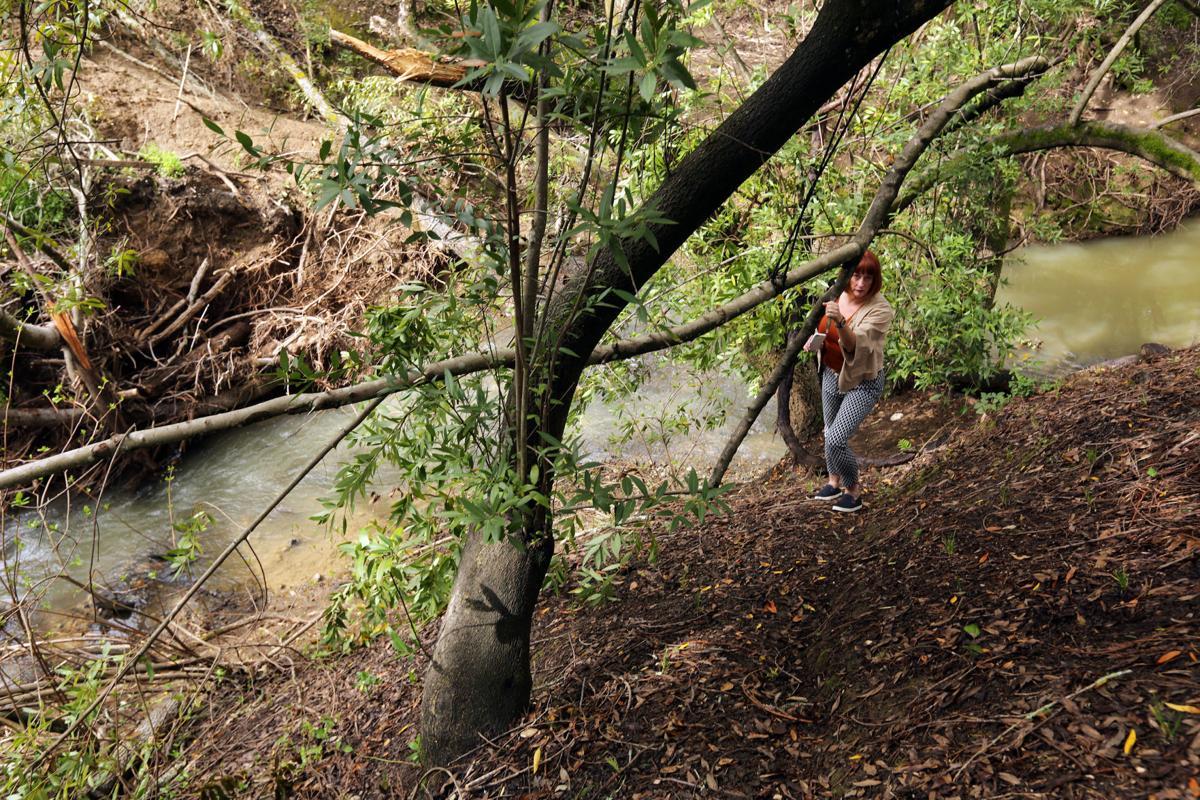 Browns Valley Creek slide