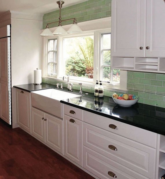 kitchen makeover: gallery gets a touch of green   home and garden