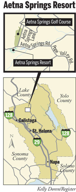 Aetna Springs Resort map