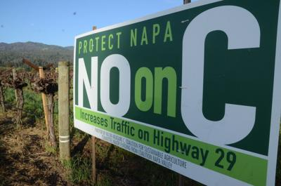 No on Measure C signs