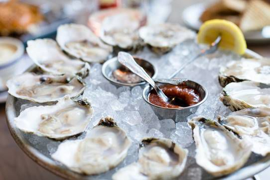 Oysters at The Salt Line.