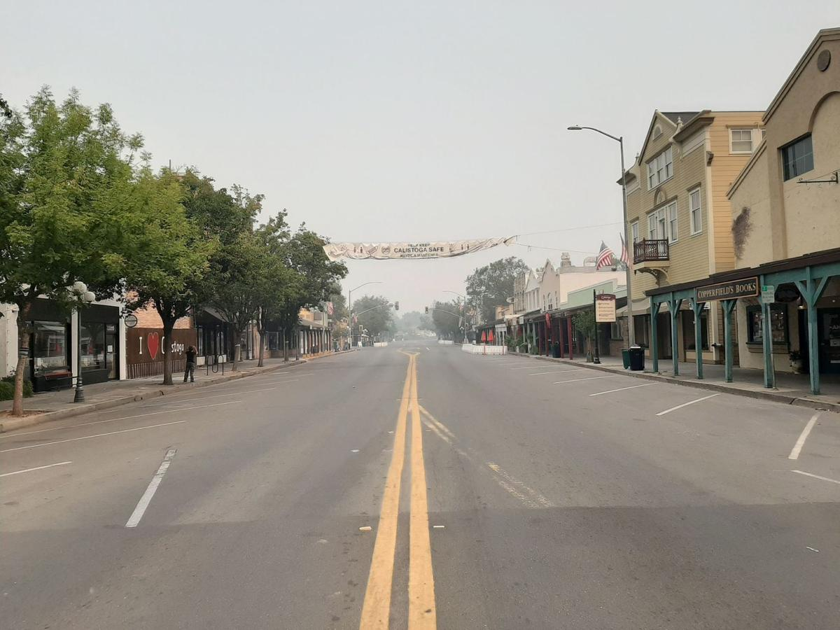 Downtown Calistoga Glass Fire