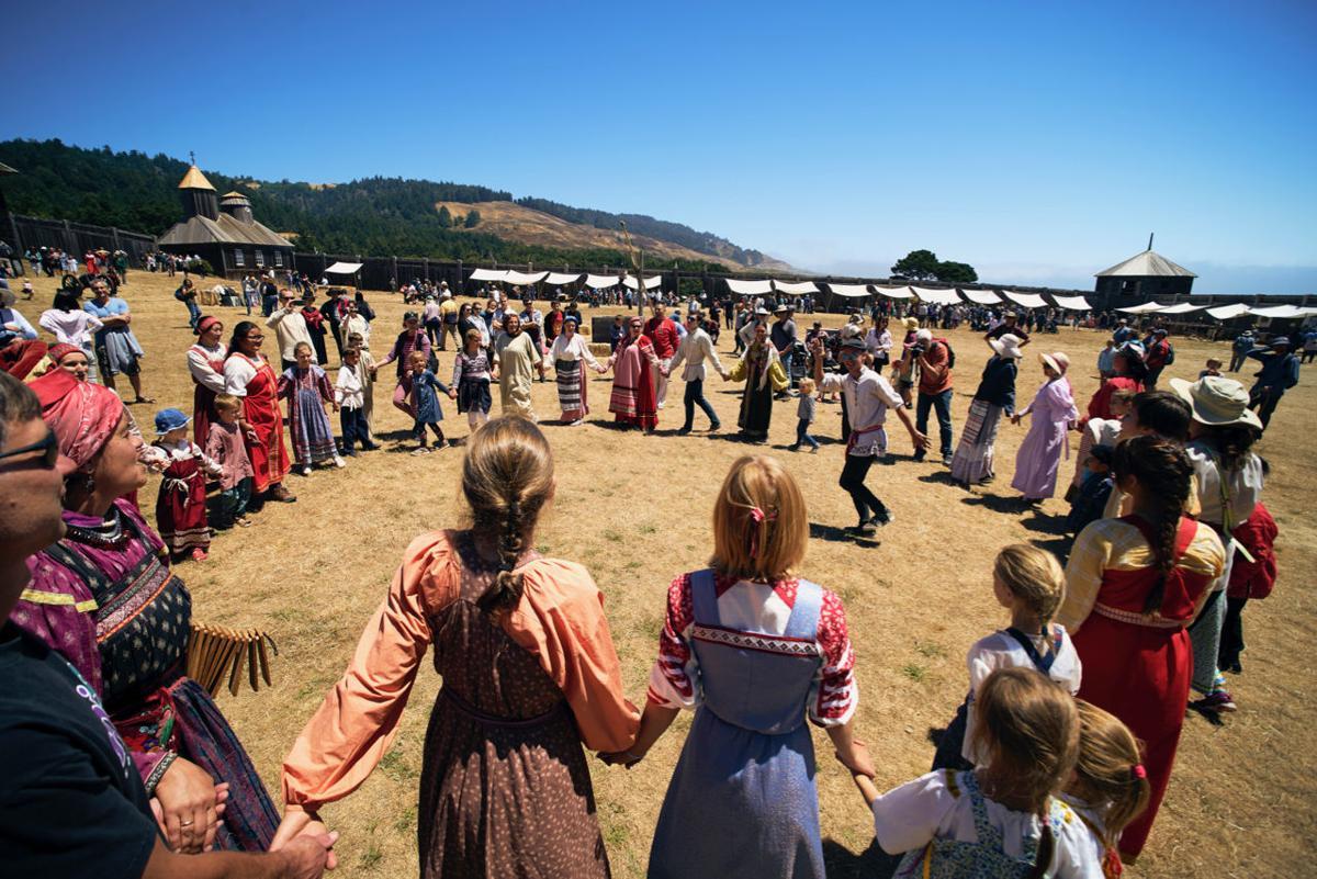 Folk Dancing at Fort Ross Festival