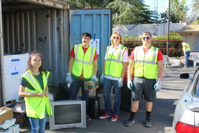 Earth Day Drive Thru gathers electronics in St. Helena